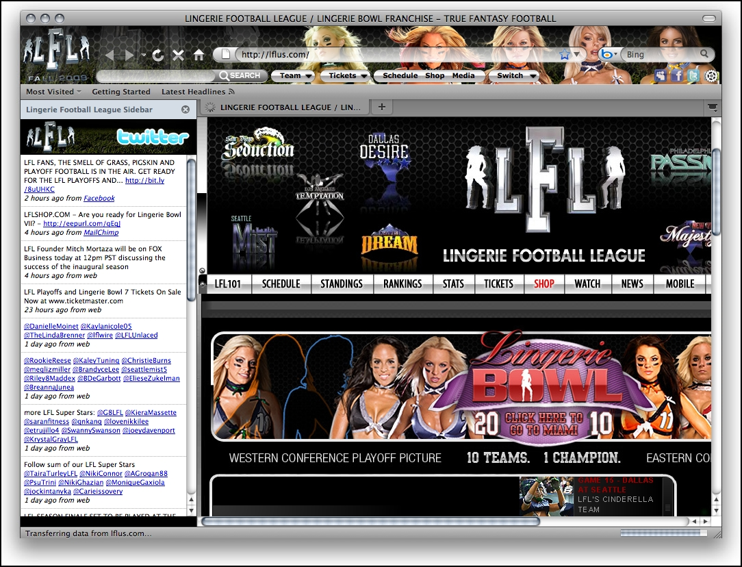 Lingerie Football Firefox Theme - standaloneinstaller com