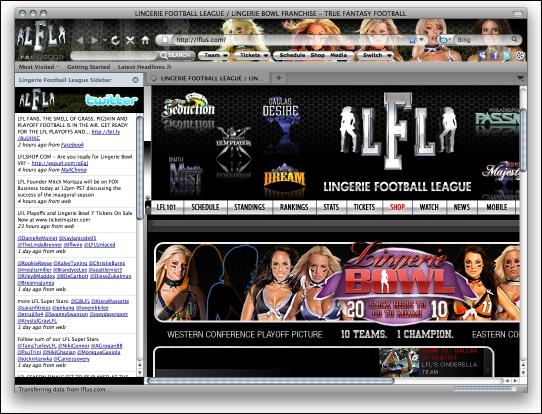 Download Lingerie Football Firefox Theme