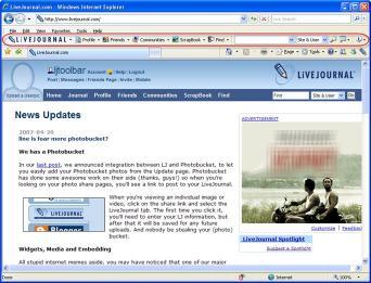 Download LiveJournal Toolbar