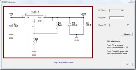 Download LM317 Voltage Regulator Calculator