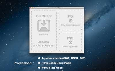 Lossless Photo Squeezer for Mac