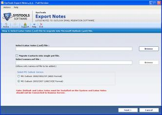 Download Lotus Notes to Outlook Sync