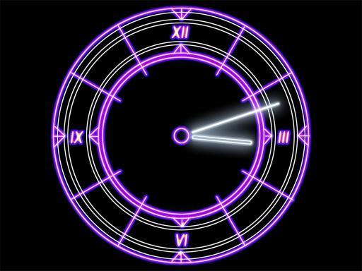 Download Luminescent Clock ScreenSaver
