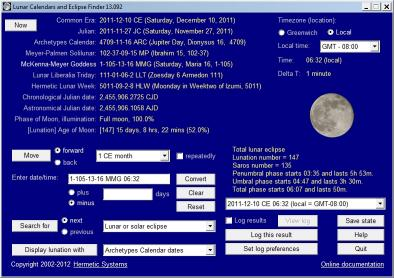 Download Lunar Calendars and Eclipse Finder