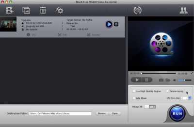 MacX Free WebM Video Converter