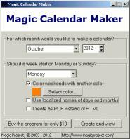 Download Magic Calendar Maker