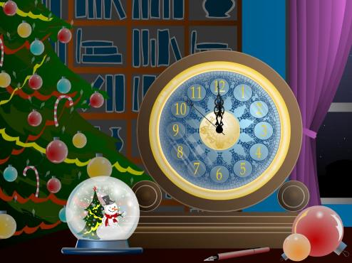 Download Magic Christmas Clock screensaver