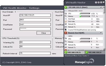 Download ManageEngine VM Health Monitor