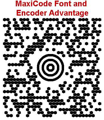 MaxiCode Font and Encoder Advantage