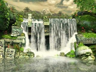 Download Mayan Waterfall 3D Screensaver
