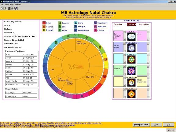 Download MB Astrology Natal Chakra