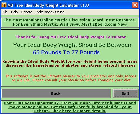 mb ideal body weight calculator