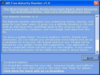 Download MB Maturity Number