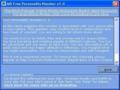 Download MB Personality Number