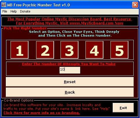 Download MB Psychic Number Test