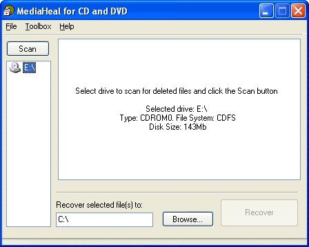 Download MediaHeal for CD and DVD