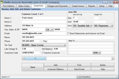 Download Medlin Accounts Receivable and Invoicing