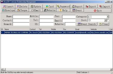 Download MemDB Customer Relationship Management