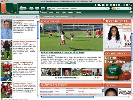 Download Miami Hurricanes IE Browser Theme