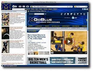 Download Michigan University Firefox Theme
