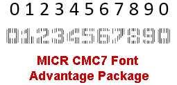 MICR CMC7 Font Advantage Package