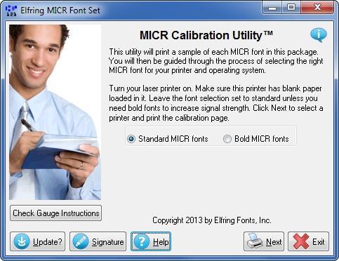 Download MICR Font Set