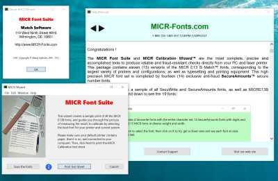 MICR Font Suite