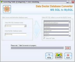Download Microsoft SQL To MySQL Converter