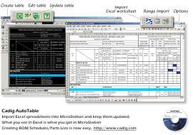 Download MicroStation Excel- {Cadig AutoTable 3 }