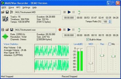 Download Midi2Wav Recorder