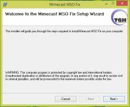 Mimecast MSO Fix
