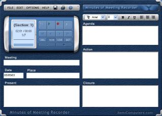Download Minutes of Meeting Recorder