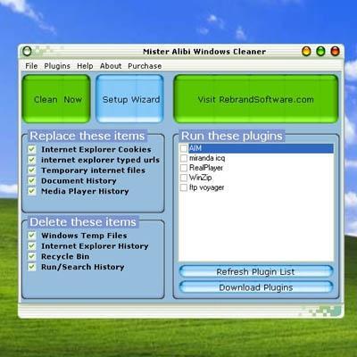 Download Mister Alibi Windows Cleaner