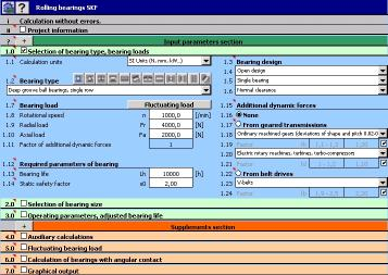 Download MITCalc - Rolling Bearings Calculation I