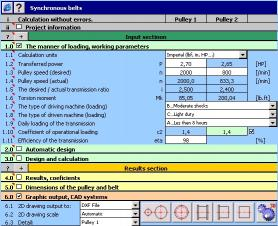 Download MITCalc - Timing Belts Calculation