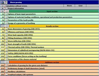 Download MITCalc - Worm Gear Calculation