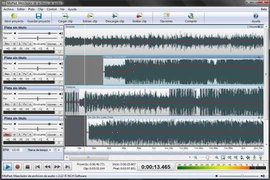 Download MixPad, mezclador de audio profesional