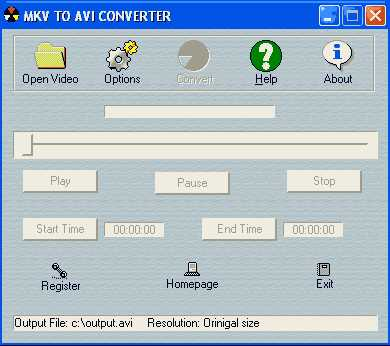 Download MKV to AVI Converter
