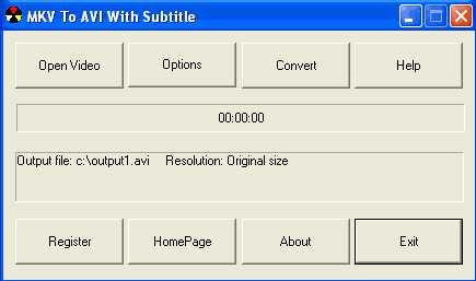 Download MKV To AVI With Subtitle