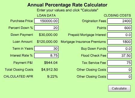 Download MoneyToys APR Calculator
