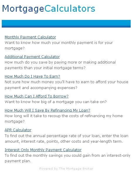 Download Mortgage Calculators