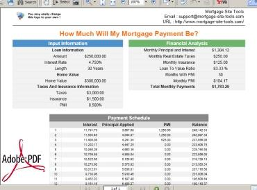 Download Mortgage calculators collection