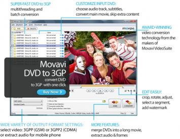 Download Movavi DVD to 3GP