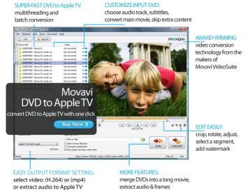 Download Movavi DVD to Apple TV