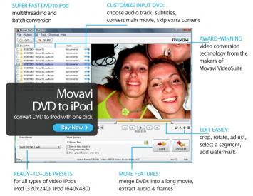 Download Movavi DVD to iPod