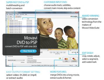 Download Movavi DVD to PSP