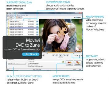 Download Movavi DVD to Zune