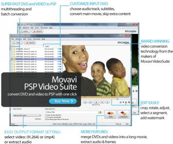 Download Movavi PSP Video Suite