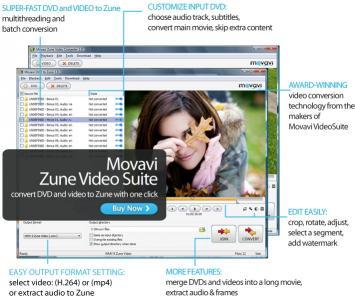 Download Movavi Zune Video Suite