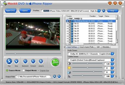 Download Movkit DVD to iPhone Ripper